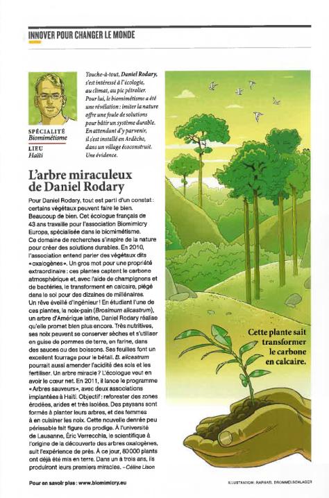 Daniel Rodary, bientôt au Bouchot pour une formation sur le biochar, dans National géographique